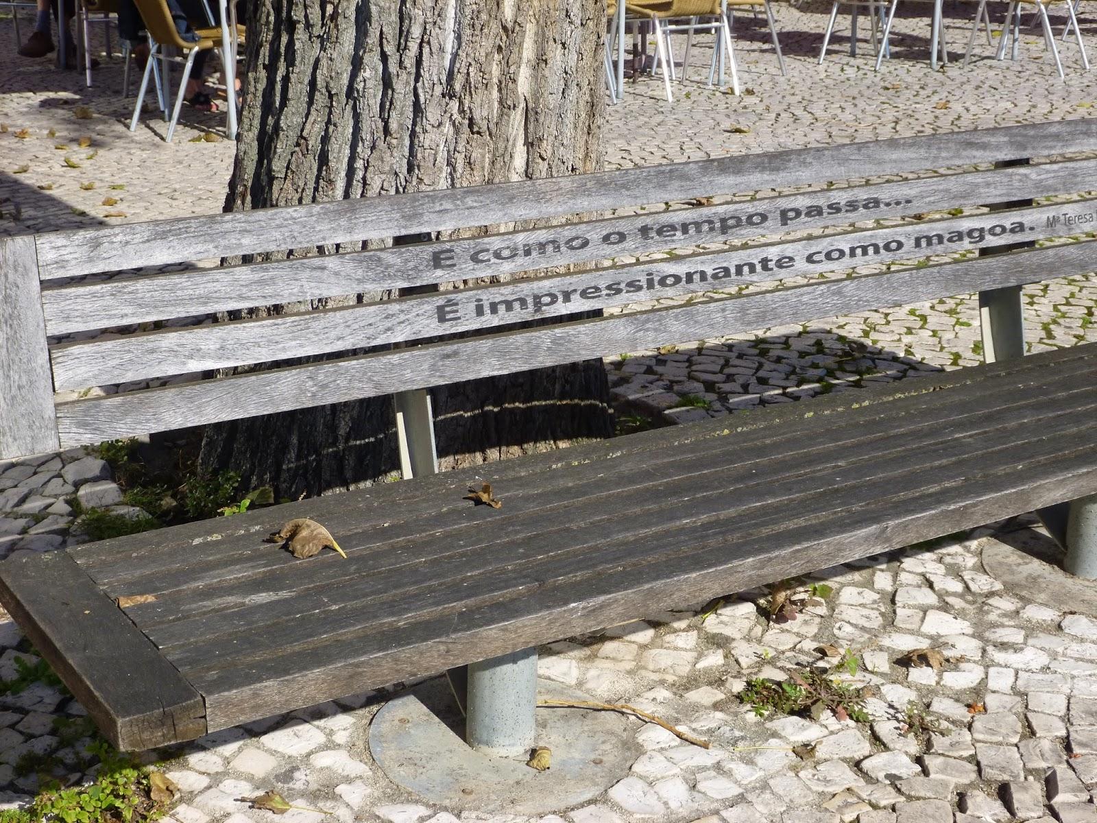 banco de jardim poesia:pela positiva: Figueira da Foz: Poesia na cidade
