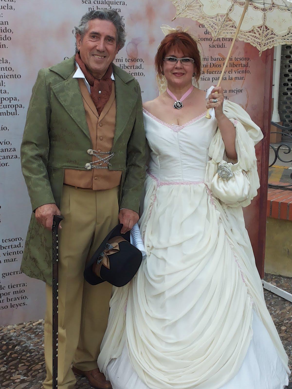 Ruta del Romanticismo, en Almendralejo.Con mi marido Juan Manuel del Pozo Jiménez.