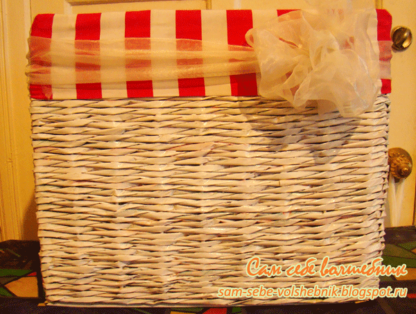 Плетеная корзина для хранения вещей. 20631