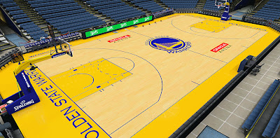 NBA 2K14 Warriors HD Court Mod