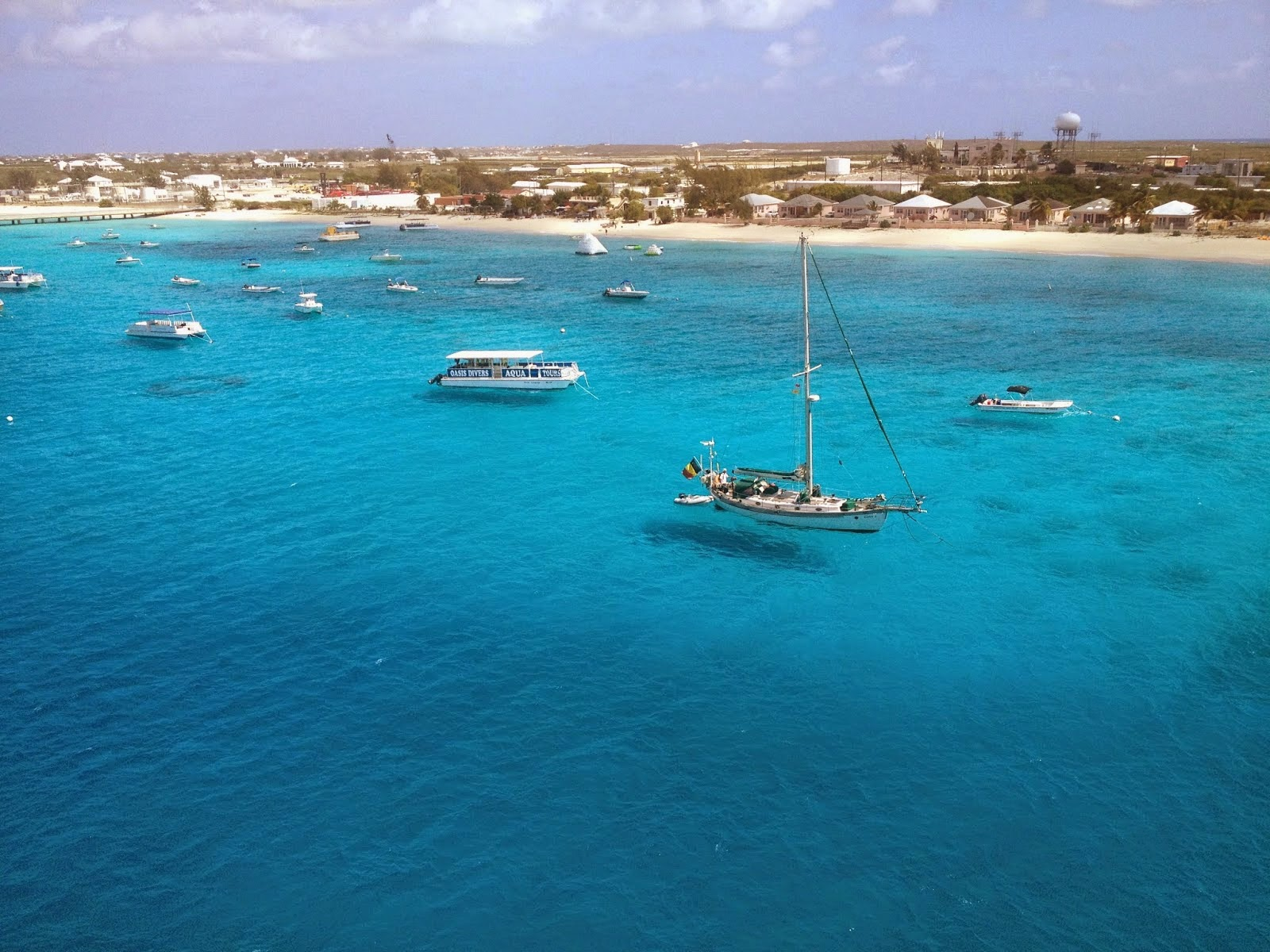 Sailboats in Grand Turk
