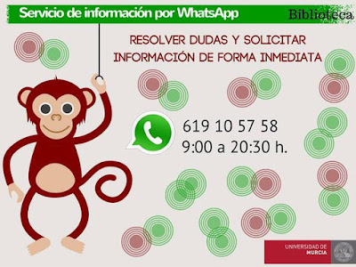Nuevo servicio de WhatsApp en la BUM.
