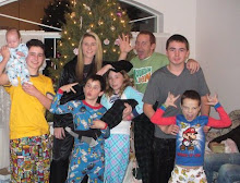 The cousins in their Christmas pjs