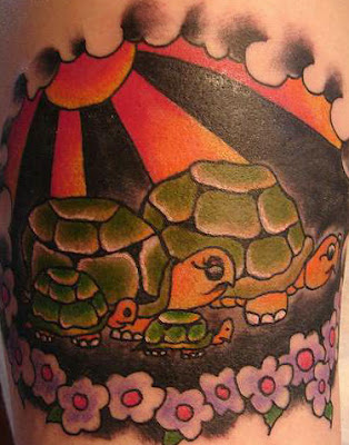 Cartoon Turtle Tattoo Design picture Gallery - Cartoon Turtle Tattoo Ideas