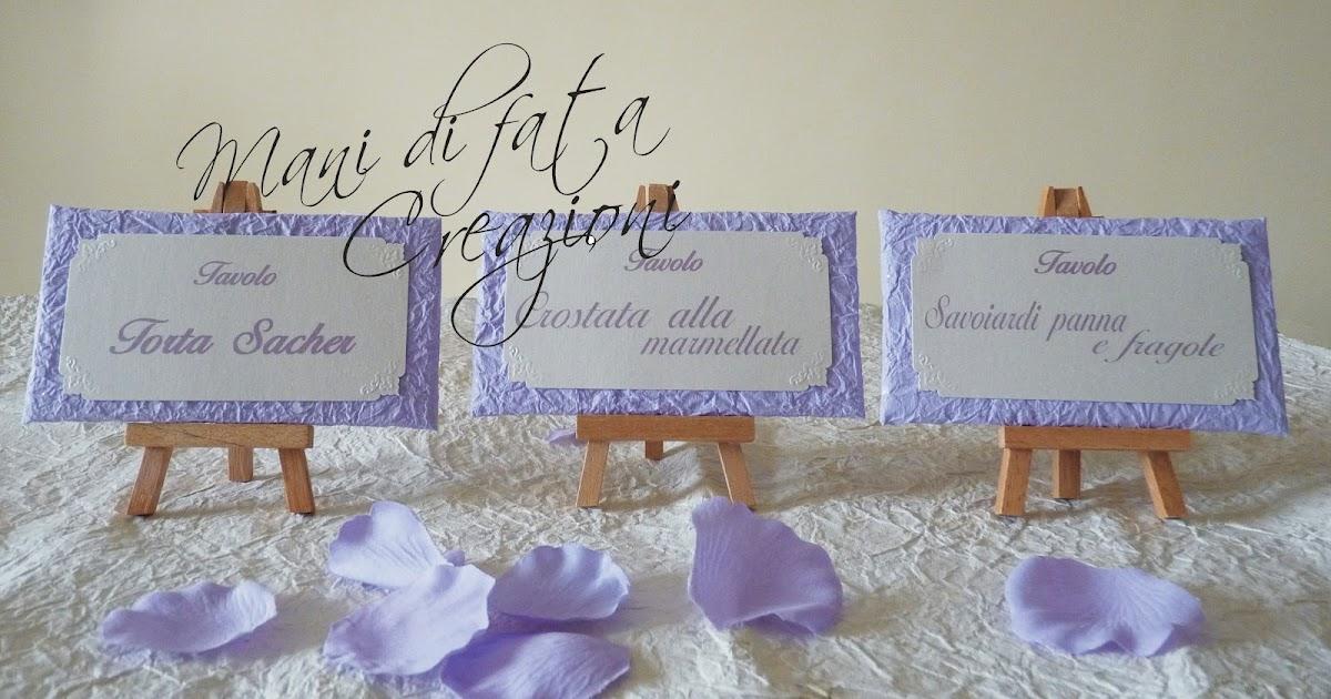 Matrimonio Tema Lilla : Mani di fata creazioni segnatavolo per matrimonio linea