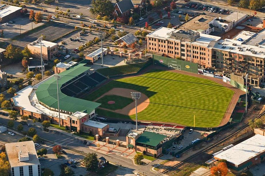 The greenville drive at fluor field opening day
