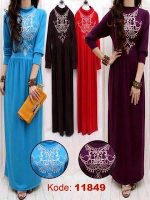 Model Trendi Baju Gamis Busana Muslim Terbaru