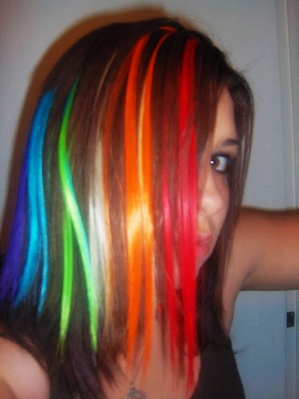 Rainbow Hair Hi... Rainbow Hair Tumblr