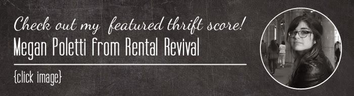 #thriftscorethursday Megan's treasures from Rental Revival