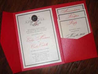 Love series pocketfold wedding invitations by InvitationsbyEmily