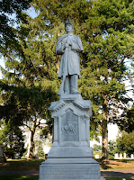 Civil War monument in Fairview Cemetery