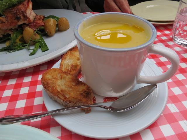 Jamie's italian Covent garden pumpkin soup