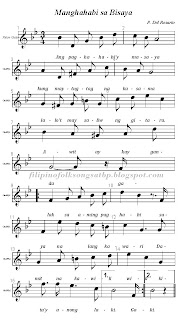 Filipino: Visayan Folk Song - Manghahabi sa Bisaya Sheet Music