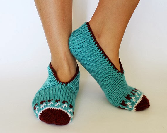 Knitting Women S Socks : Artistic life knitted women slippers socks