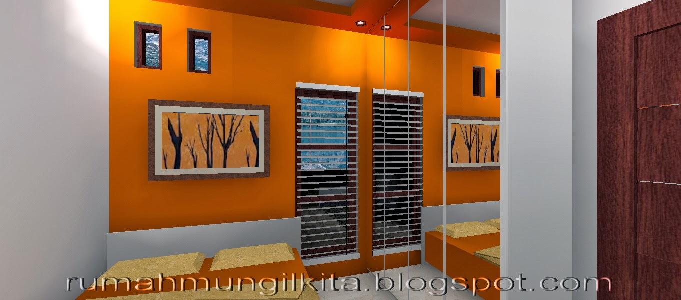 penataan rumah hasil renovasi tipe 27 tanah 72 area kamar