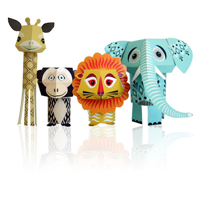 papers toyrs par MIBO, animaux en papier pour enfants