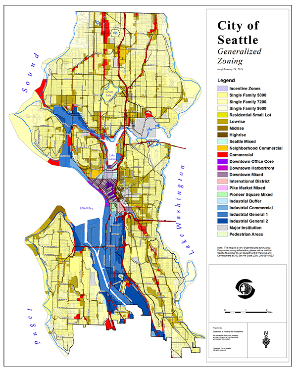Look At The Amount Of Space In Seattle Dedicated To Single