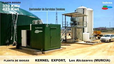 Contenedor servicios tecnicos bombeo control PLC planta de biogas kernel 500kw