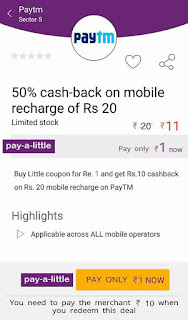 recharge cashback offer little deals
