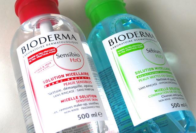 bioderma sebium, biodema solution micellaire, bioderma sensibio