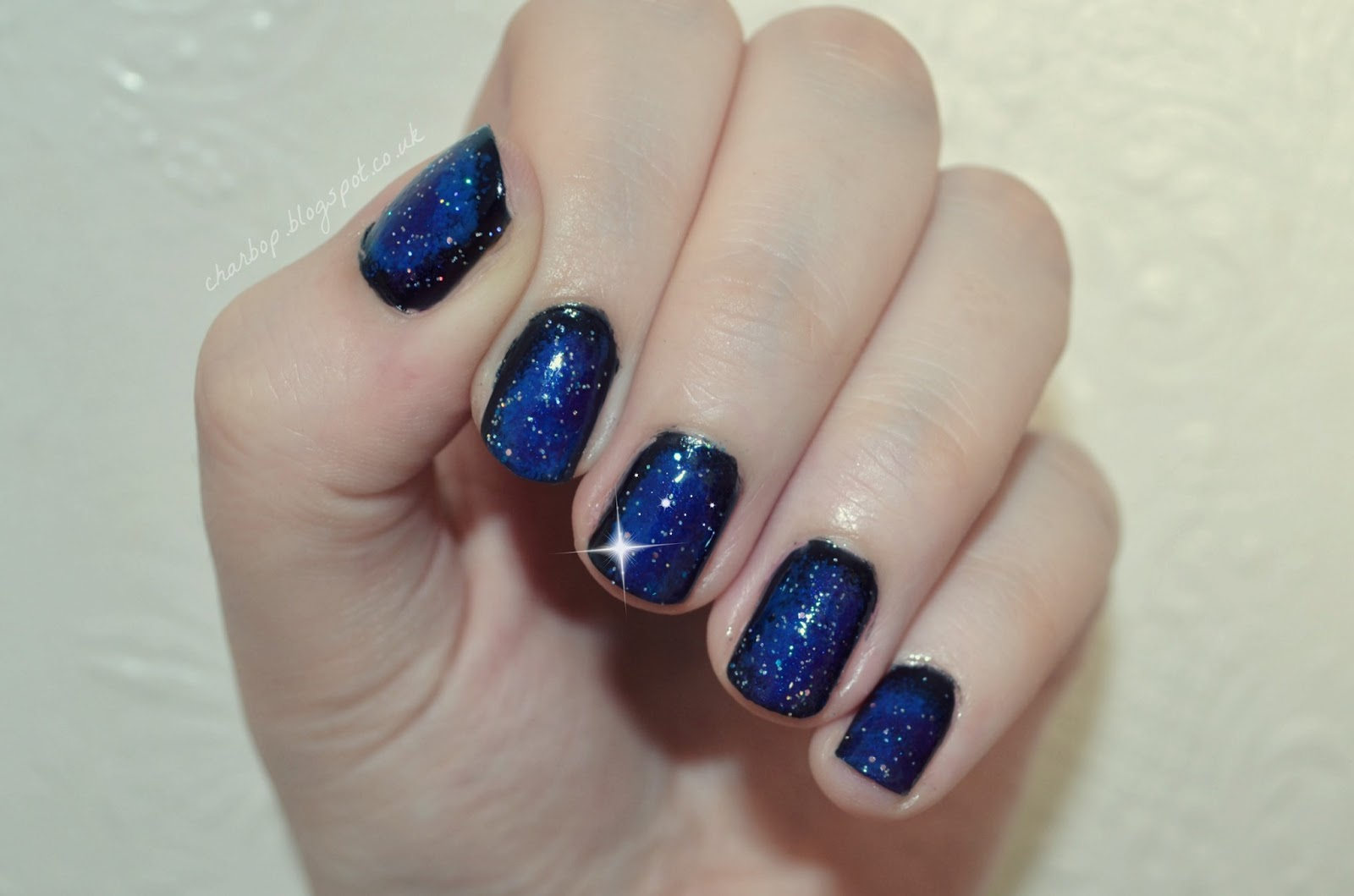 Where is my mind?: To infinity and beyond! Galaxy nail art...