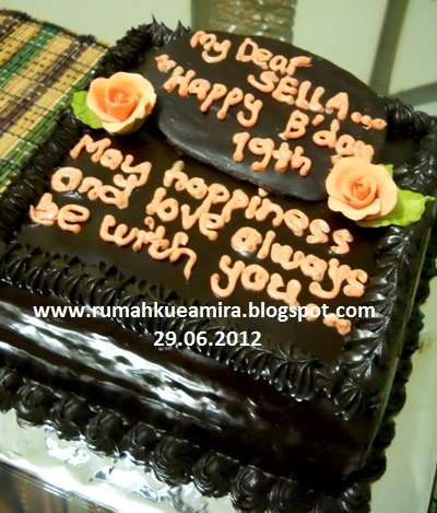 ... kue ultah untuk pacarnya sella yg akan berulang tahun ke 19 requestnya