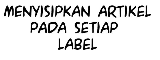 cara menyisipkan label bawaan blog