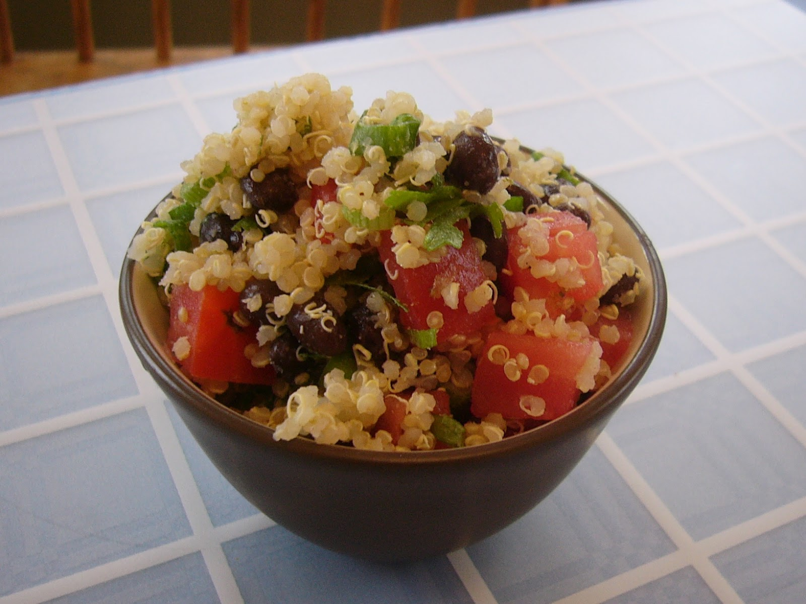 Bringing Home the Brakebush: Black Bean and Tomato Quinoa