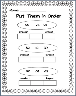 ... found me : Math Worksheets Ordering Numbers From Least To Greatest