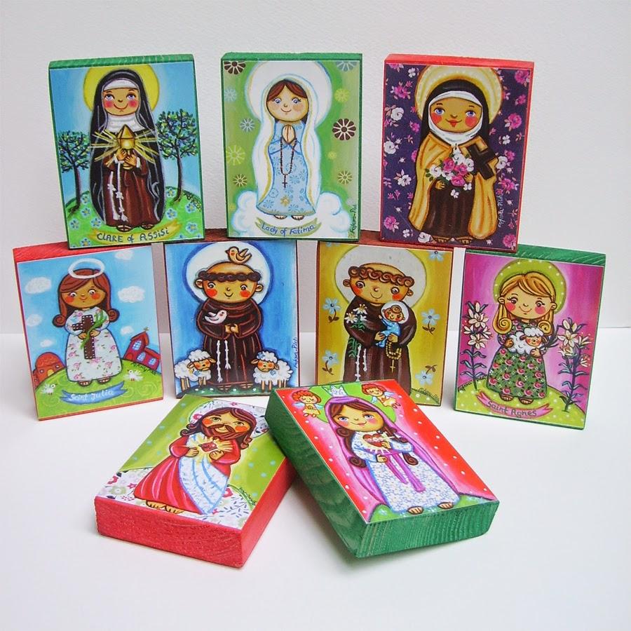 Drewniany obrazek obraz ilustracja święty święta patron święci błogosławiona błogosławiony dla dziewczynki chłopca chłopczyka dziecka prezent upominek na gwiazdkę ozdoba dekoracja bożonarodzeniowa świąteczna Jezus Chrystus Matka Boska Różańcowa różaniec Maryja dziecko pamiątka chrztu chrzest pierwsza bierzmowanie komunia narodziny urodziny