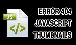 Error 404 Not Found Dari Javascript Thumbnails