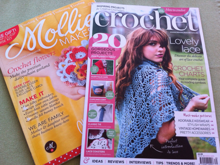 4 MOLLIE MAKES MAGAZINES and PROJECTS # 34.35.36.37 + MOLLIE MAKES SEWING
