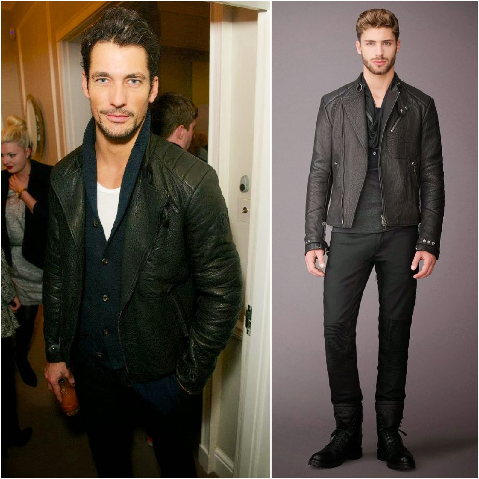 David Gandy in Belstaff - MATCHESFASHION.COM and GQ Style Cocktail Party