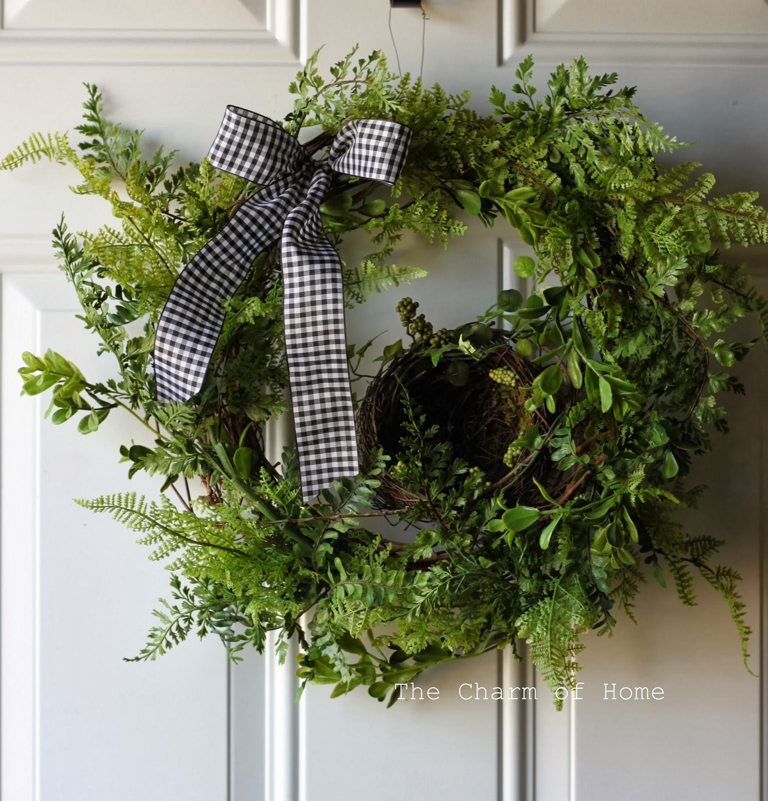 Spring Wreath Recycled