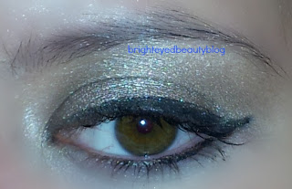 Eye look with theBalm Overshadow in 'Work is Overrated'