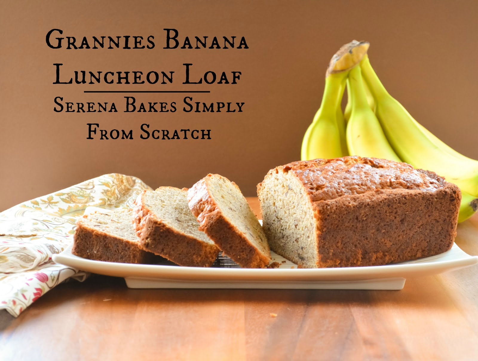 Grannies Banana Luncheon Loaf