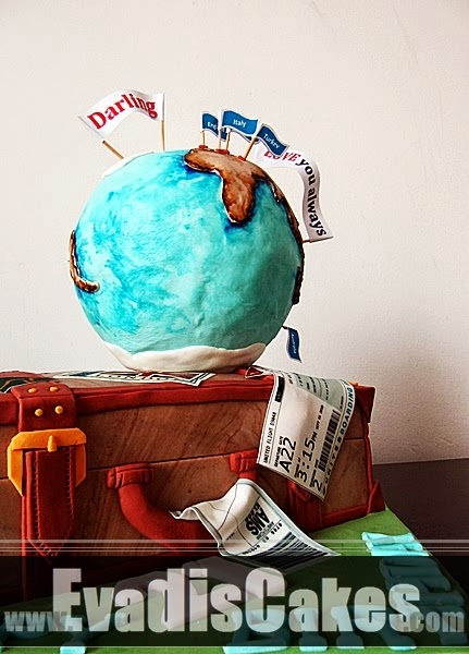 Picture of globe with luggage bag