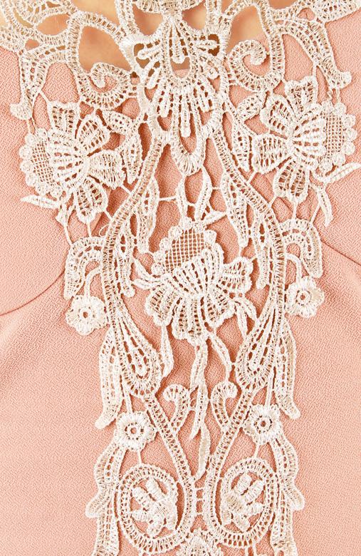 Blush Pink Elfin Crochet Lace Dress