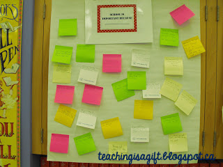 Picture of Back to School with Post Its @teachingisagift.blogspot.ca