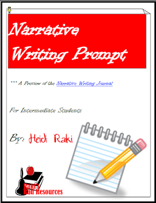 Free narrative writing prompt for the writing process from Raki's Rad Resources.