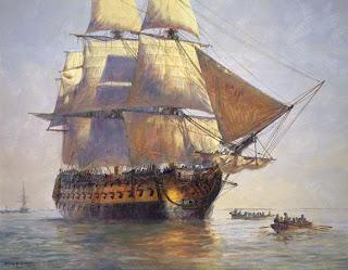 Queen Anne's Revenge, the flagship of Blackbeard the pirate