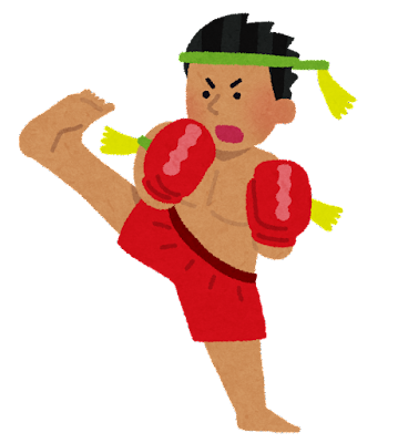 ムエタイの選手のイラスト