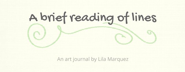 "Lines of Lila: Art Journal ""A Brief Reading of Lines"""