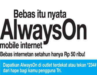 Tips cara menggunakan paket Internet 3(three) Always on