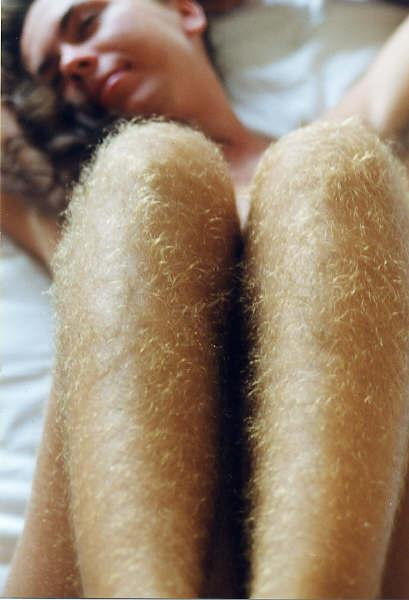 girl with hairy legs