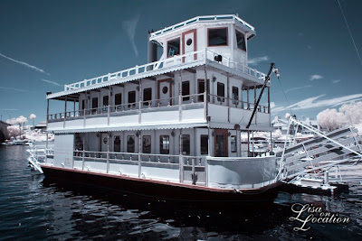 London Bridge, British paddle wheel boat, steamboat, Lake Havasu City, Arizona, infrared, New Braunfels photographer
