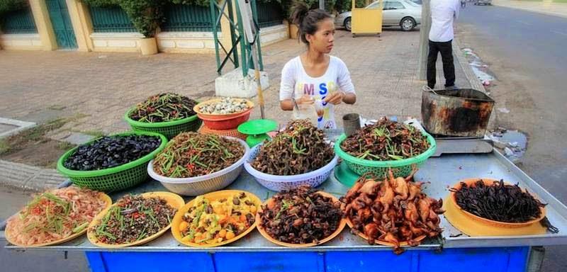 Insektenverkauf Thailand