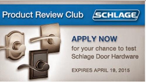 Chickadvisor Schlage Door Hardware Review Club Offer