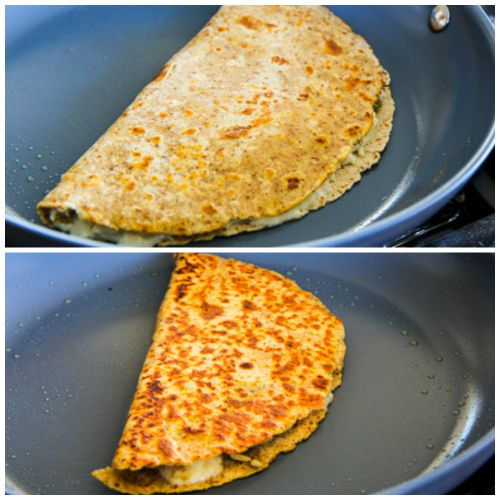... , or until the quesadilla is nicely browned and the cheese is melted