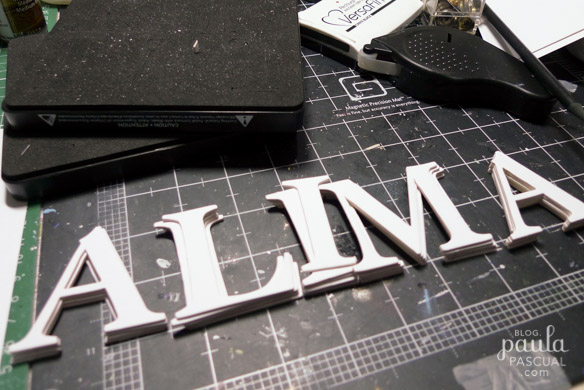 Paula pascual die cut letters and a wheelbarrow to carry for Large letter die cuts